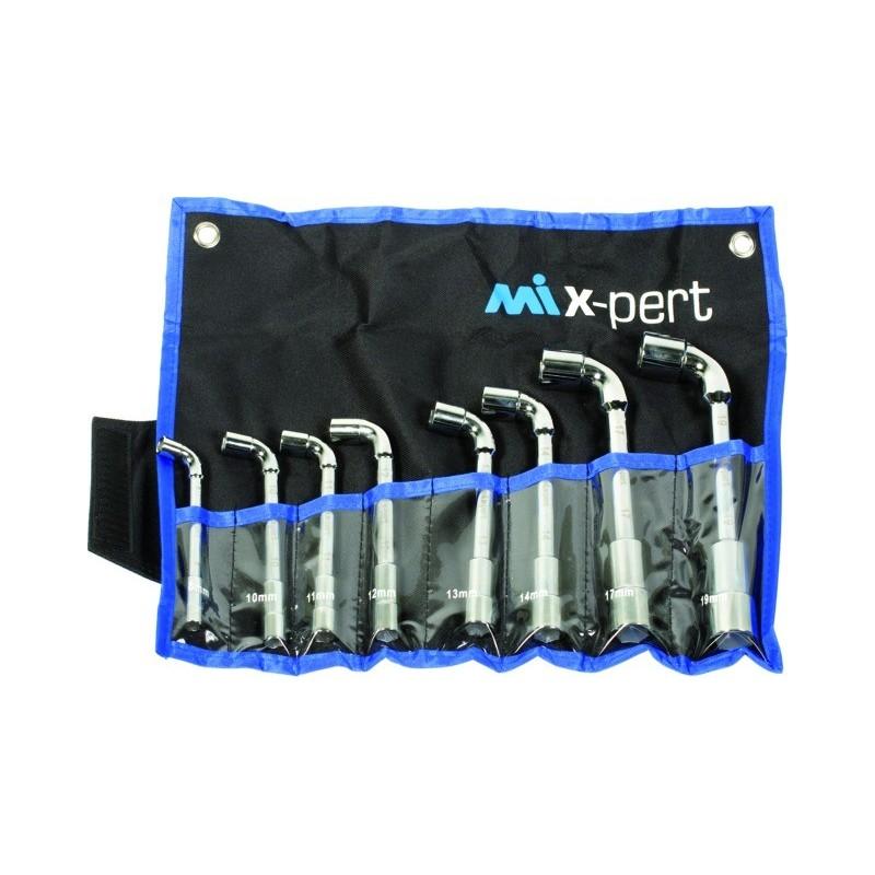 Clés à pipe débouchées 6 pans jeu de 8 clés Mix-Pert
