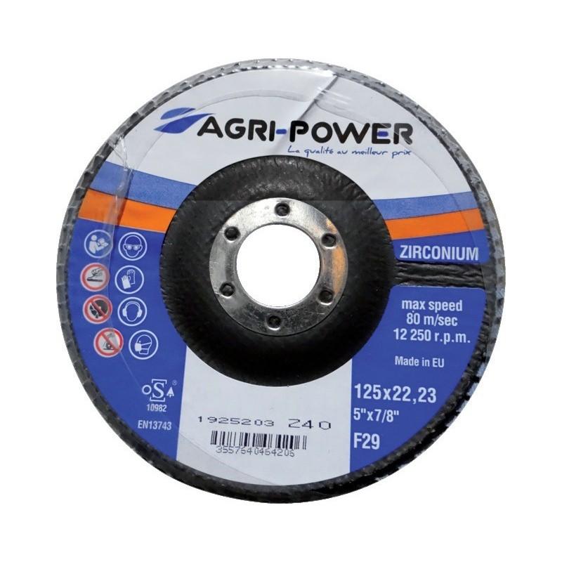 Disque à lamelles 125x1 gr40 zirco Agri Power