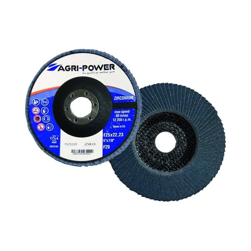 Disque à lamelles 125x1 gr80 zirco Agri Power