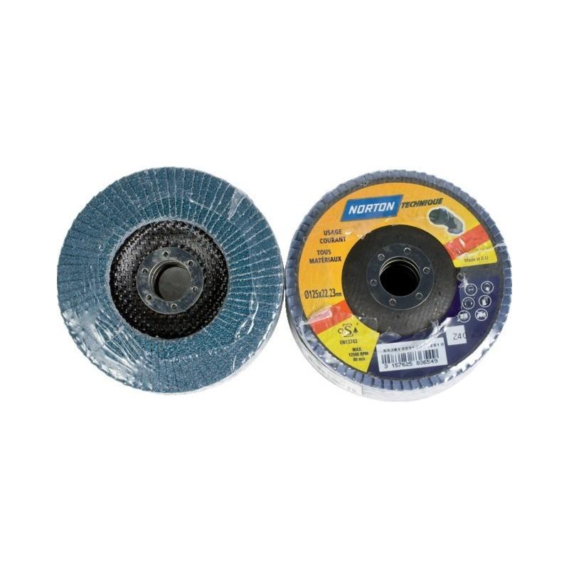 Disque à lamelles bombé 125 mm grain 40 blue pro