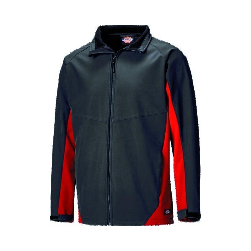 Veste softshell rouge et noir taille S