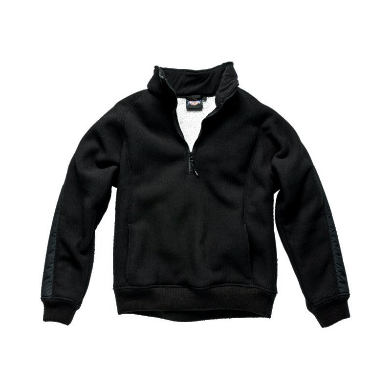 Pull polaire noir taille M 100% polyester
