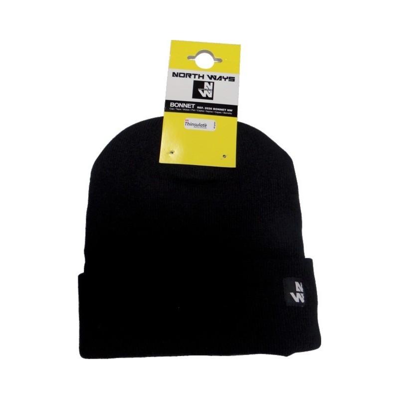 Bonnet maille tricotée doublure thinsulate taille unique