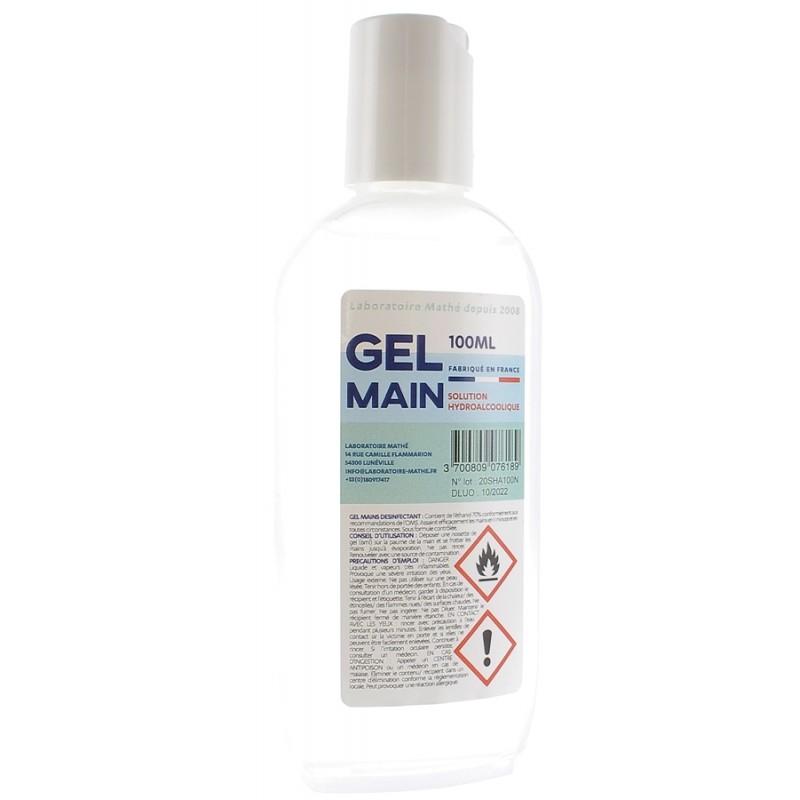 Gel hydroalcoolique - tube de 100 ml