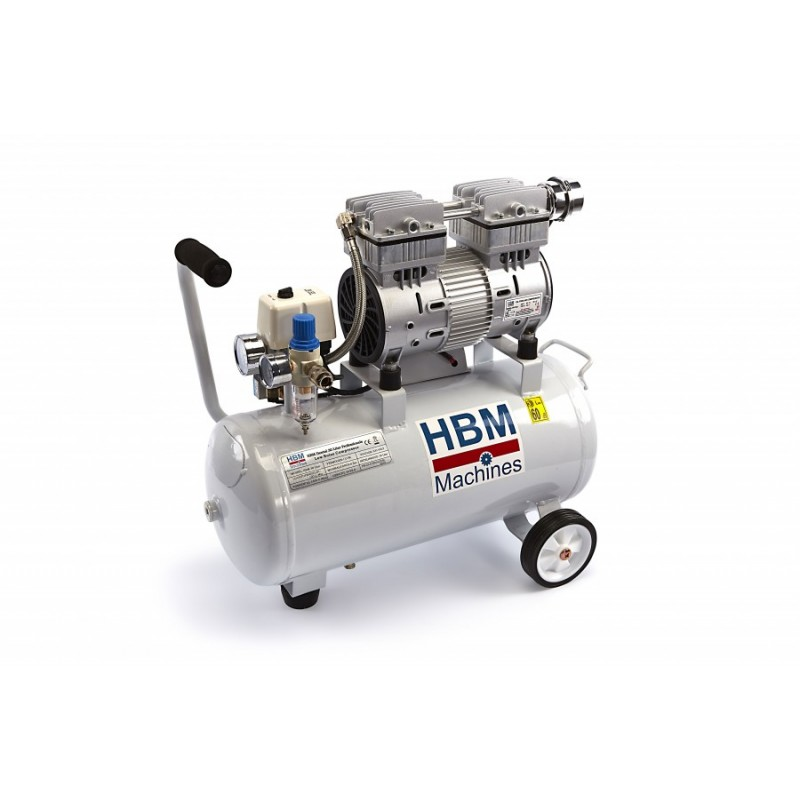 Compresseur professionnel à faible bruit hbm 30 Litres / Livré sans roues