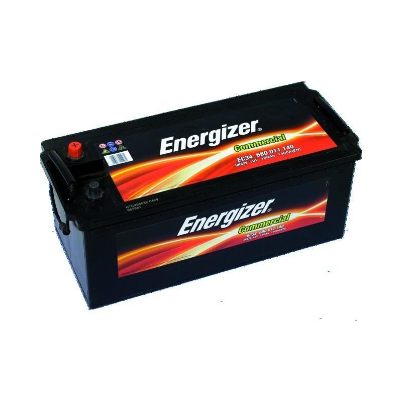 Batterie 12v 180ah 1400a en + gauche Energizer ec34