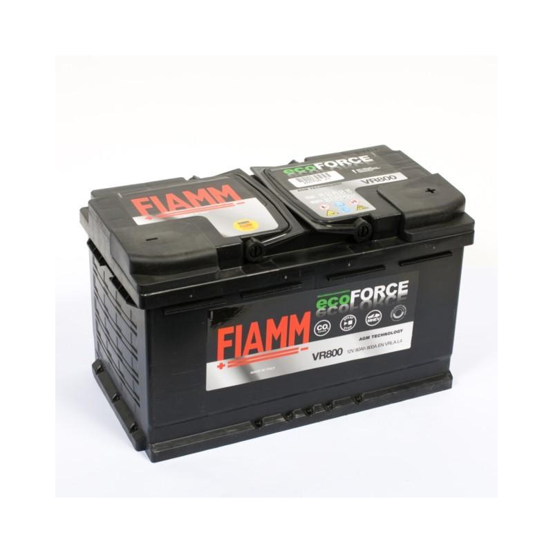 Batterie 12v 80ah 800a en + droite fiamm vr 800 ecoforce