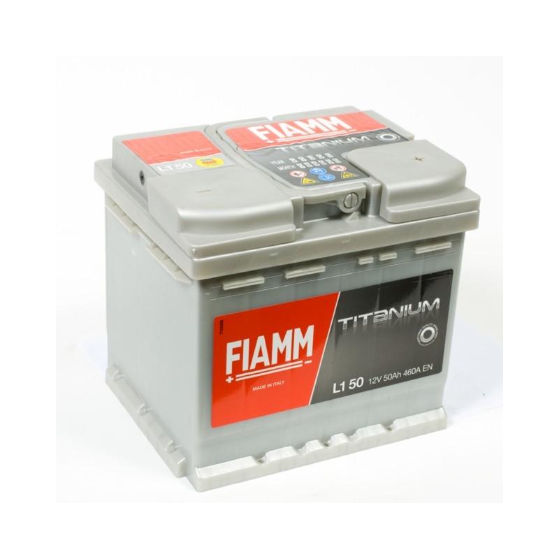 Batterie 12v 50ah 460a en +droite Fiamm titanium pro l150p