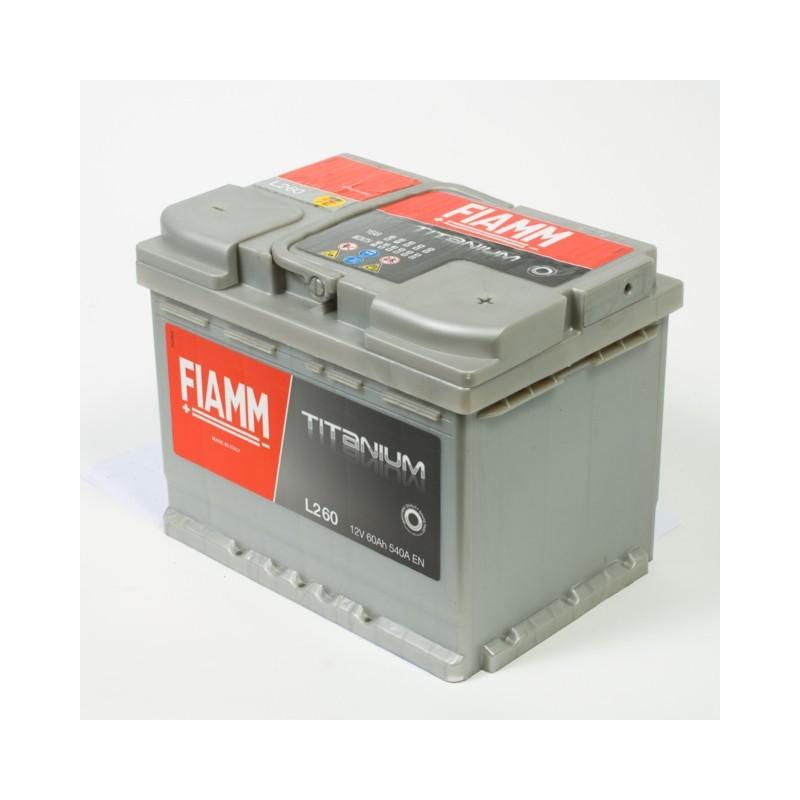Batterie 12v 60ah 540a en +droite Fiamm titanium pro l260p