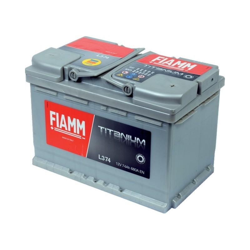 Batterie 12v 74ah 680a en +droite Fiamm titanium pro l374p