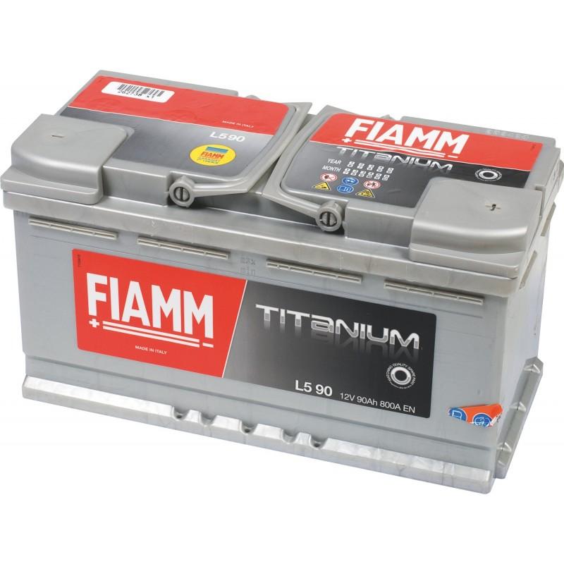 Batterie 12v 90ah 800a en +droite Fiamm titanium pro l590p