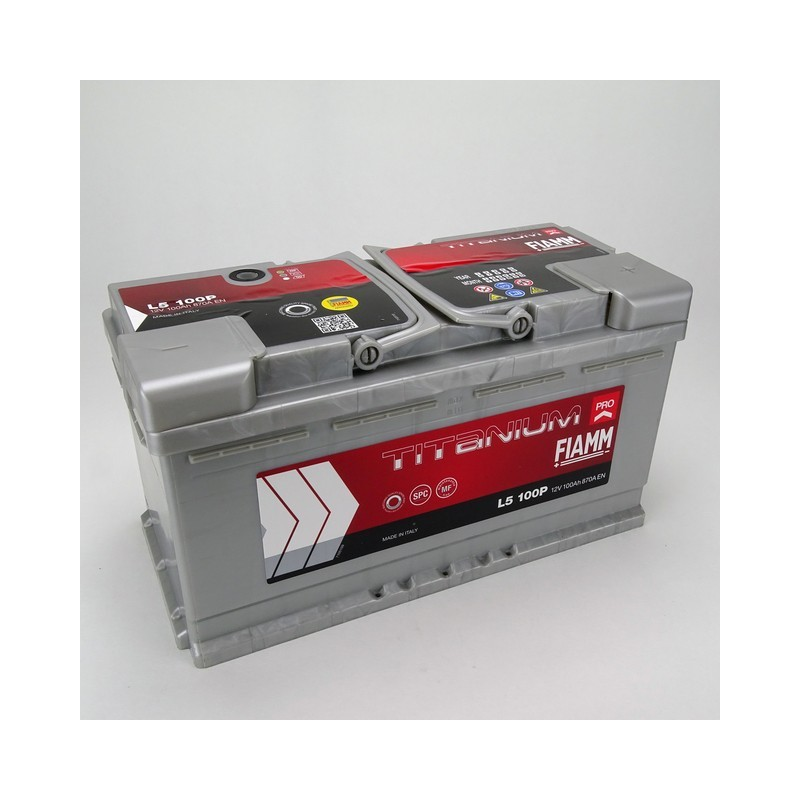 Batterie 12v 100ah 870a en +droite Fiamm titanium pro l5100p