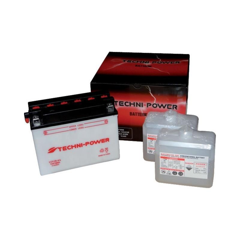 Batterie type 12n18-4a (+ à gauche) avec pack acide
