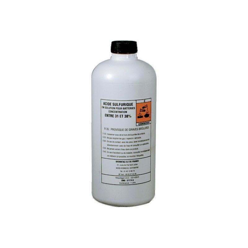Acide électrolyte 37,4% pour batterie 900 ml