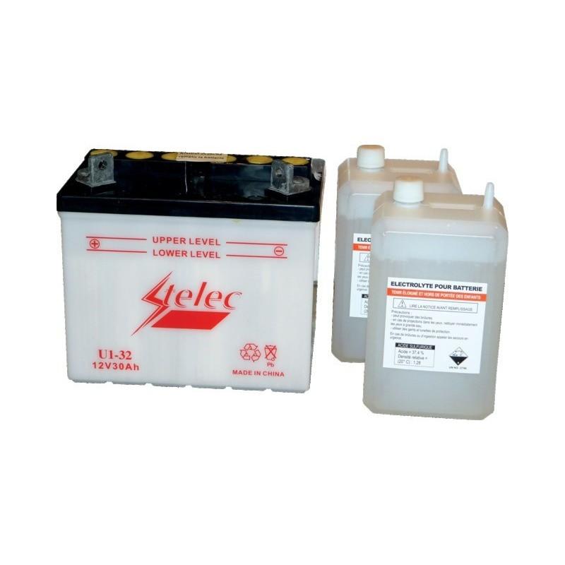 Batterie type u1-32/u1-11 (+ à gauche) avec pack acide