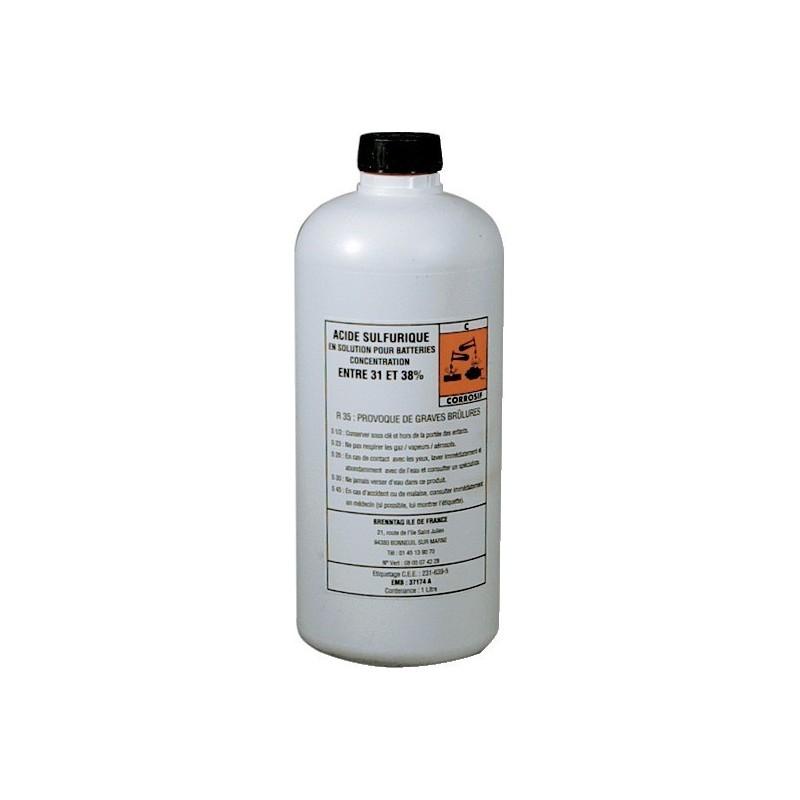 Litre acide pour batterie 1l électrolyte 37,4%