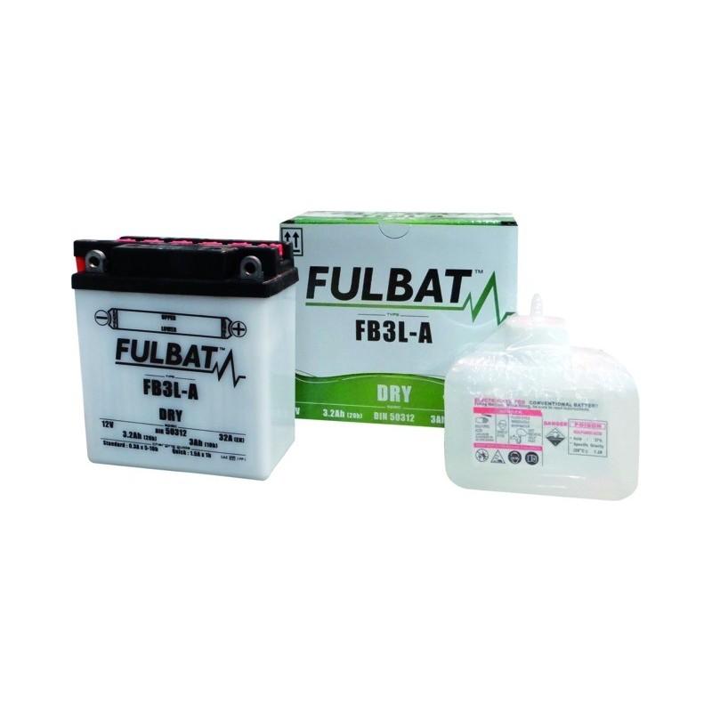 Batterie type yb3l-a (+ à droite) avec pack acide