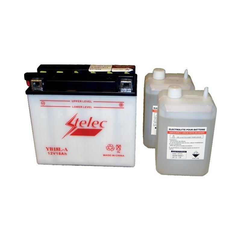 Batterie type yb18l-a (+ à droite) avec pack acide