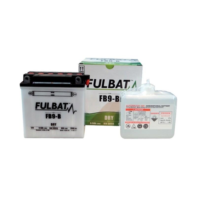 Batterie type 12n9-4b-1 (+ à gauche) avec pack acide