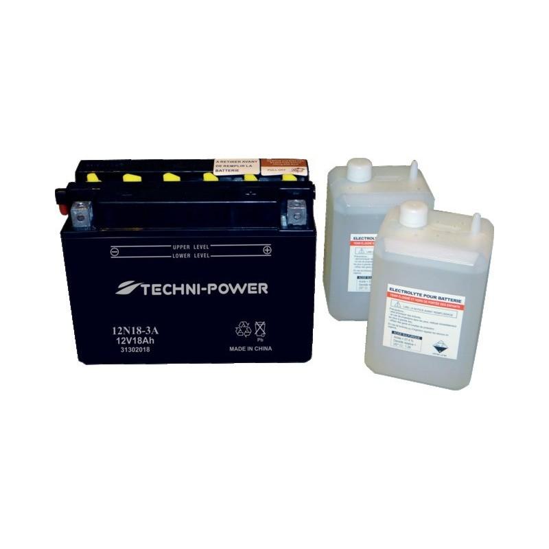 Batterie type 12n18 3a (+ à droite) avec pack acide