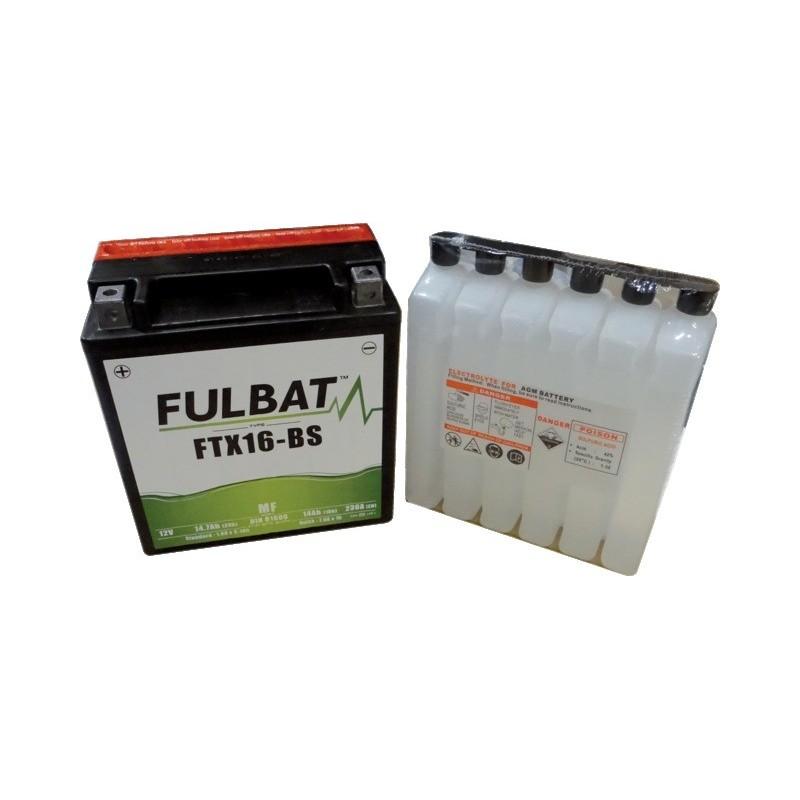 Batterie type ytx16bs (+ à gauche) avec pack acide