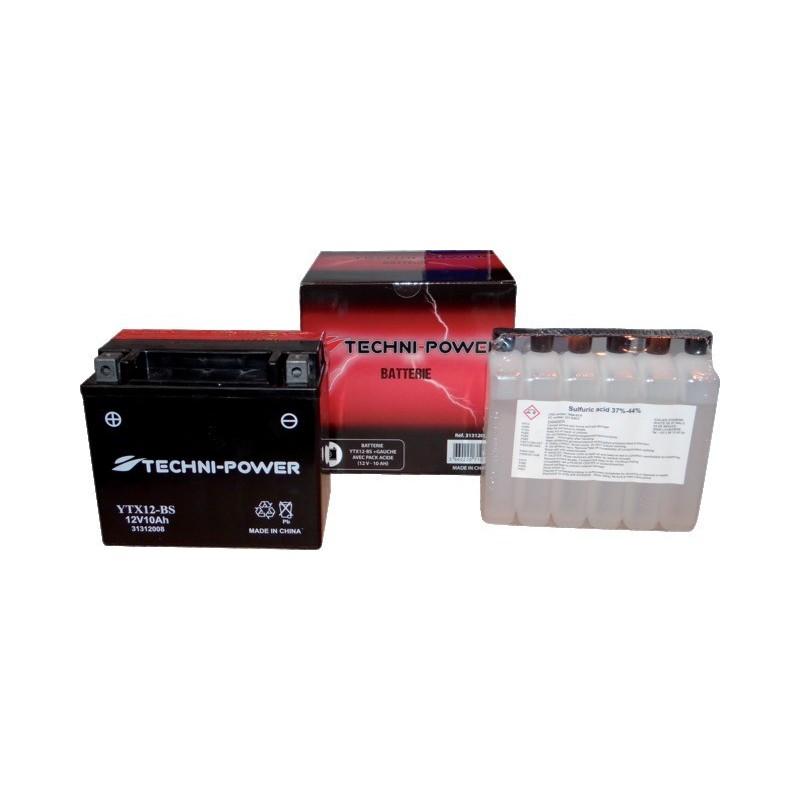 Batterie type ytx12-bs (+ à gauche) avec pack acide