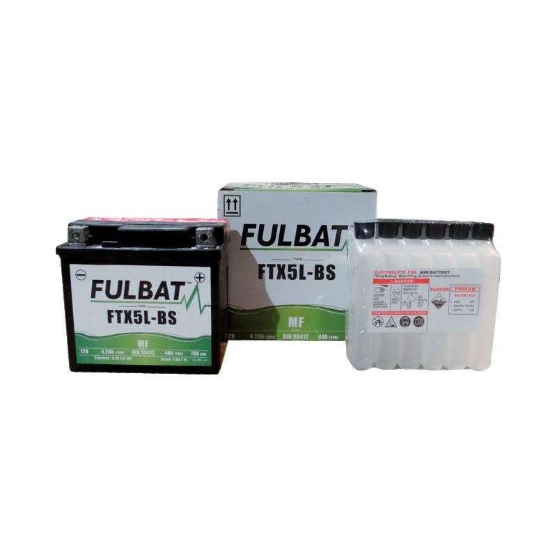 Batterie yt5l-bs +droite + pack acide