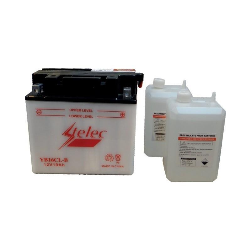 Batterie type yb16cl-b (+ à droite) avec pack acide