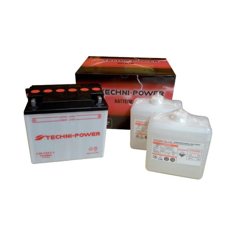 Batterie type c60-n24-la (+ à droite) avec pack acide