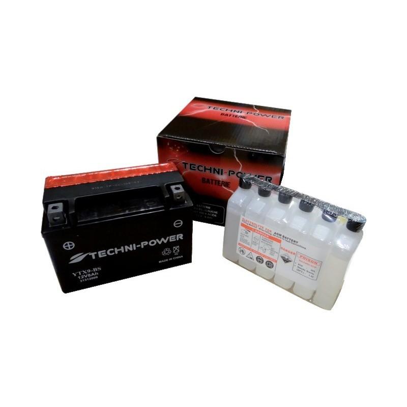 Batterie type ytx9-bs (+ gauche) avec pack acide