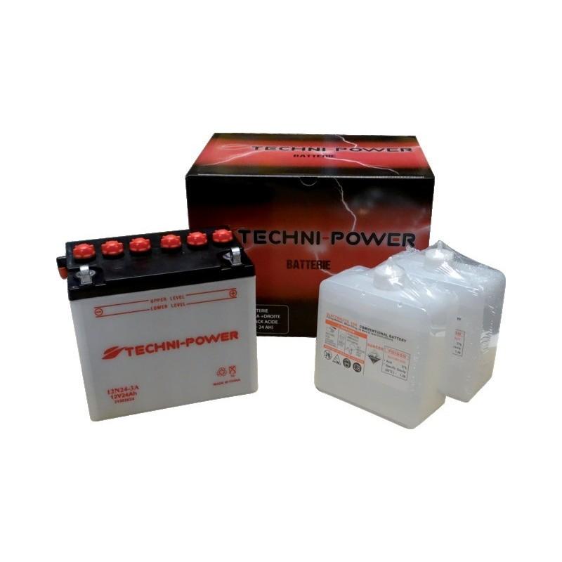 Batterie type 12n24 3a (+ à droite) avec pack acide