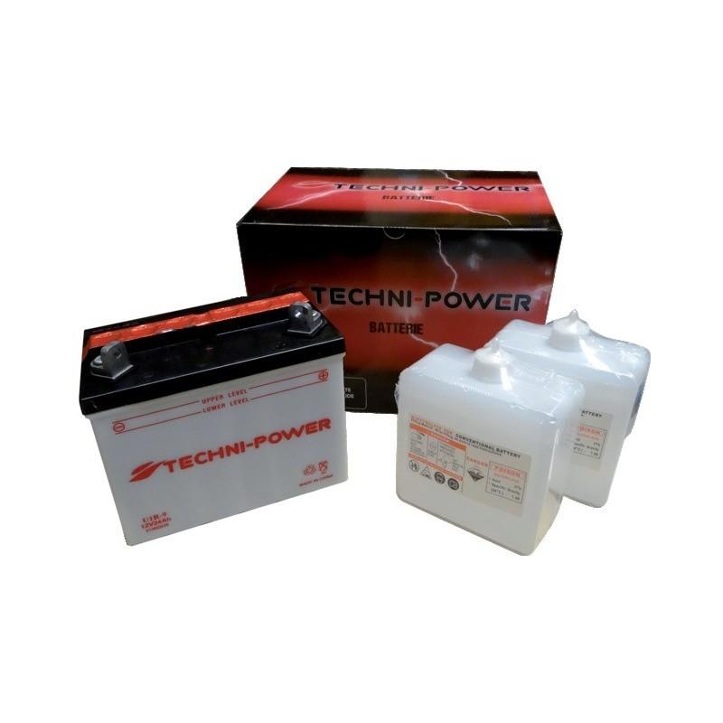 Batterie type u1r-9 (+ à droite) avec pack acide