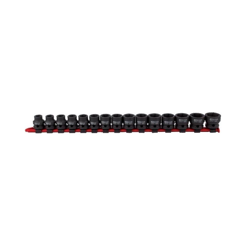 Douille a choc 1/2 6 pans extra-courte rail de 15 pièces ks tools