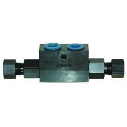 Clapet de blocage double effet 3/8'' 25 litres/minutes