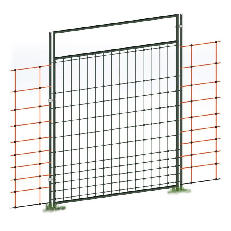 Portillon pour filet de clôture électrique, électifiable, kit complet
