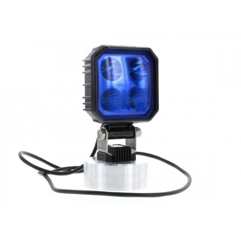 CARBONLUX : Phare de travail LED carré bleu câble