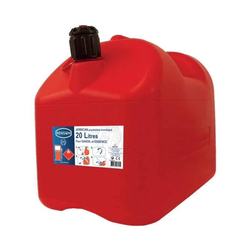 Jerrycan hydrocarbure plastique 20l