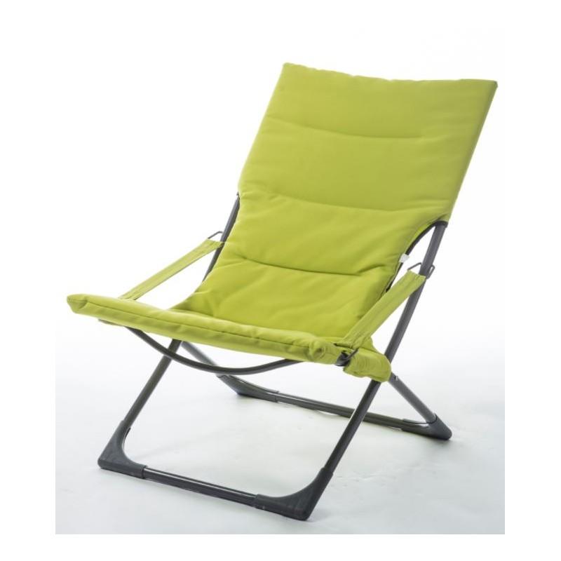 Relax de jardin en tissu Vert clair