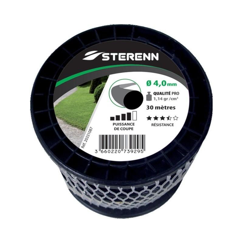 Fil nylon rond bobine 30m d 4mm