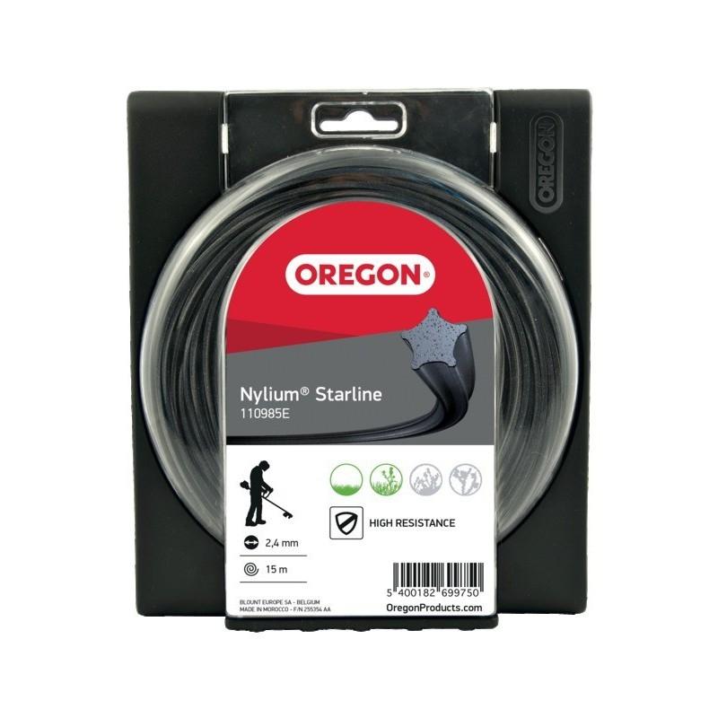 """Fil de débroussailleuse nylium """"étoile"""" diamètre 2.7 mm Oregon"""