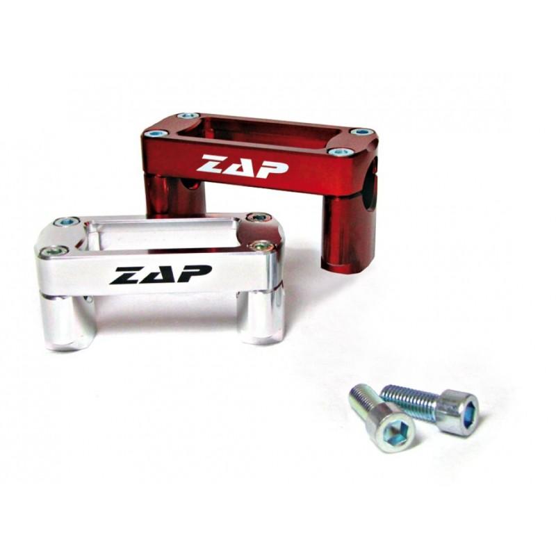 Kit de montage T-Bone (28,6mm) 35mm de haut argent ZAP TECHNIX