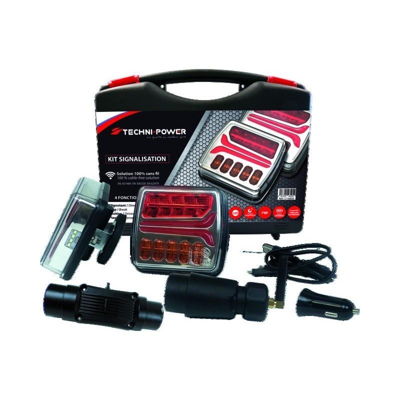 Kit signalisation magnétique led sans fil Techni-Power