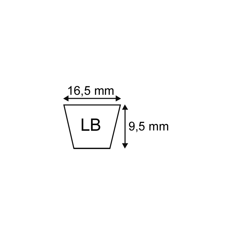 Courroie LB33 (5l34) origine Mitsuboshi