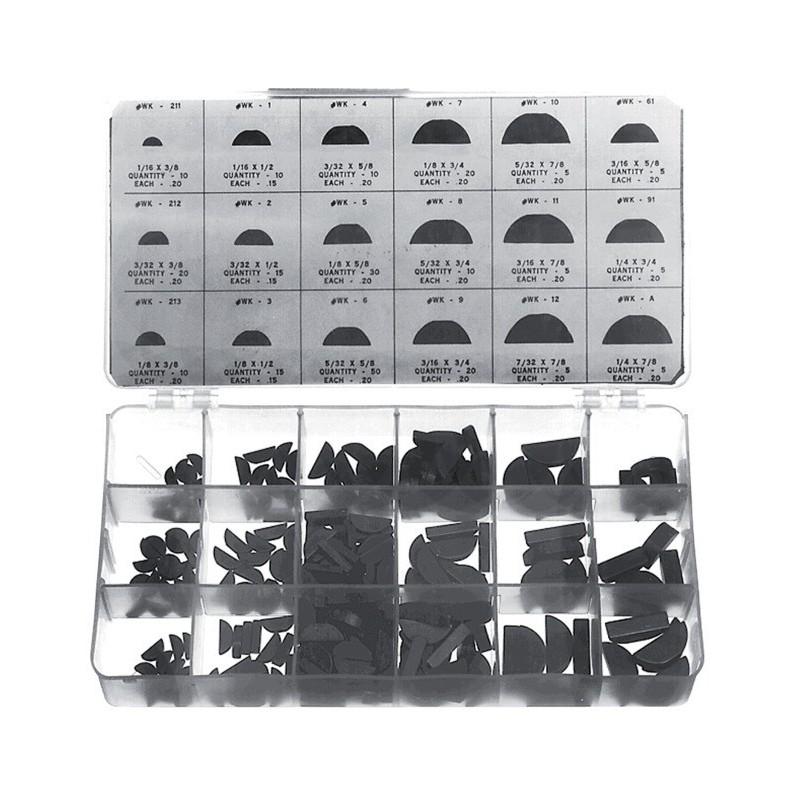 Clavettes demi lune assortiment de 250 pièces