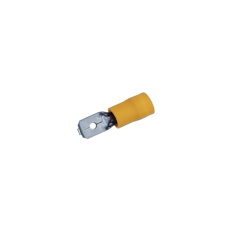 Cosses plates male jaune (box de 15)