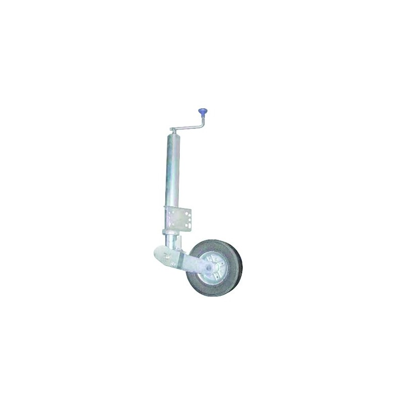 Roue jockey ø60 repliable auto roue 200 x 50