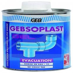 Colle tubes et raccords PVC GEBSOPLAST pot avec pinceau 240 ml