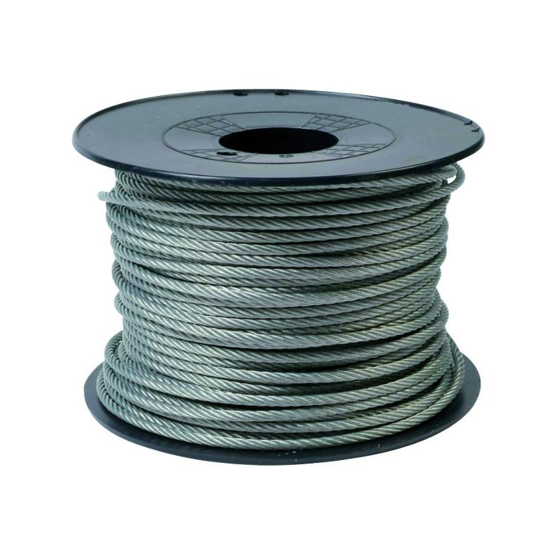 CABLE AC.GALVA 7X7 D3X2 ENROB.PVC TOURET 200M