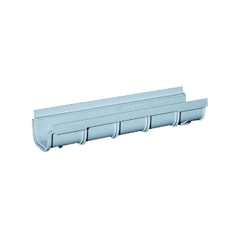 CANIVEAU A GRILLE PVC DE 500 MM LARG:130 HAUT