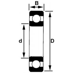 Roulement à billes 5x16x5 mm NTN 625 lluC3
